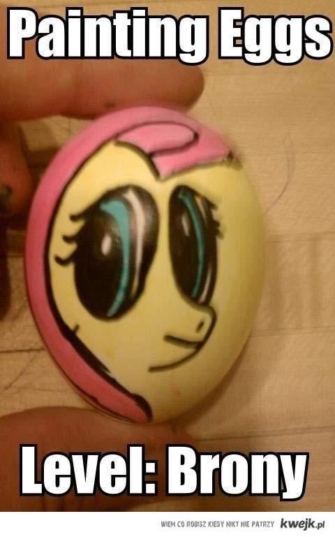 Malowanie jajka level : brony
