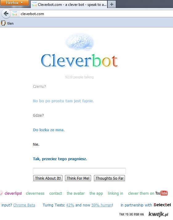 Interesująca rozmowa z CleverBotem
