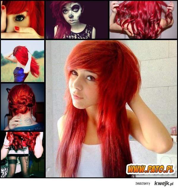 czerwone włosy ♥