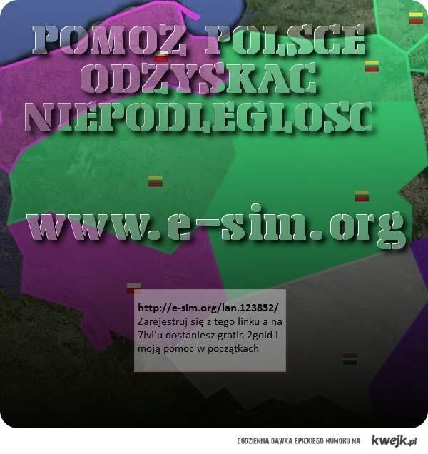 E-SIM Dołącz do nas i pomóż odzyskać sPolskę