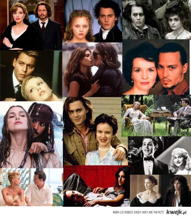 Johnny Depp i jego partnerki filmowe