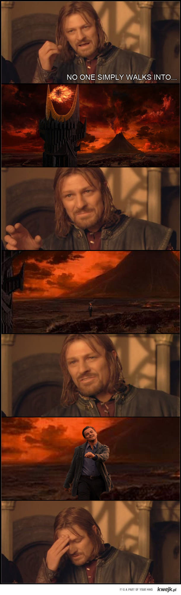 no one simply walks to mordor