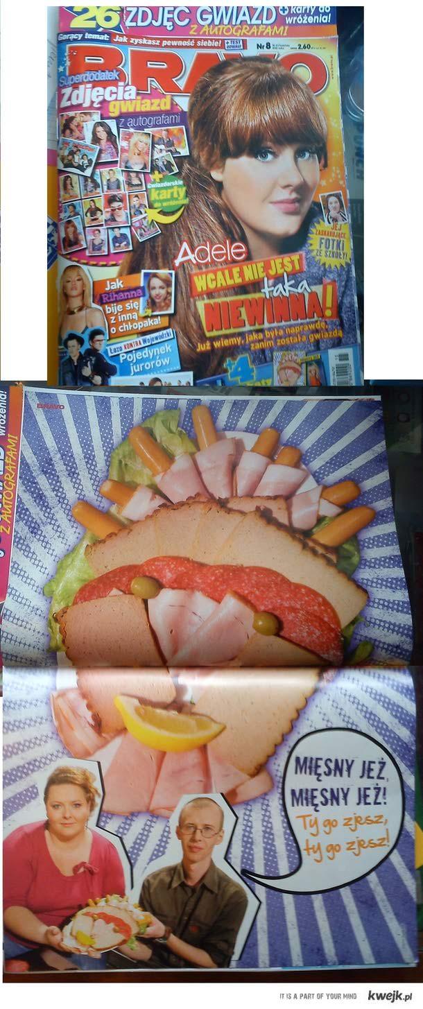Mięsny jeż nowy idol dla nastolatek już w BRAVO
