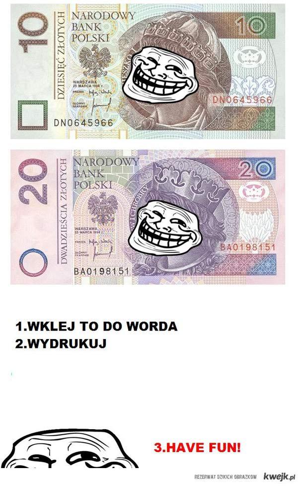 Trollowe banknoty $$$