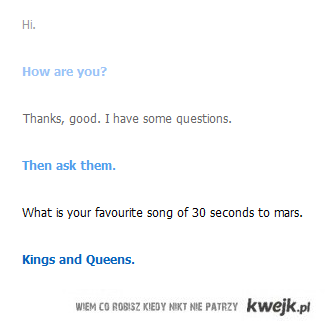 Cleverbot wie co dobre!