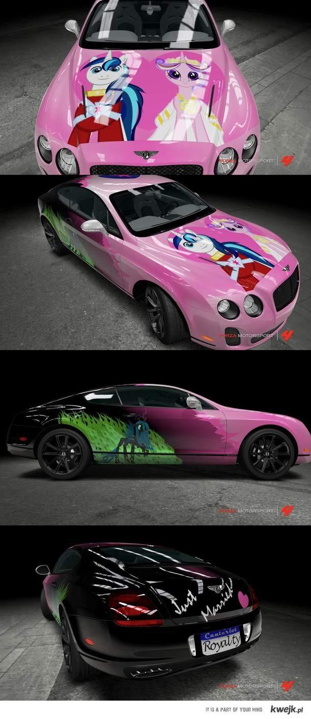 MLP Wedding car