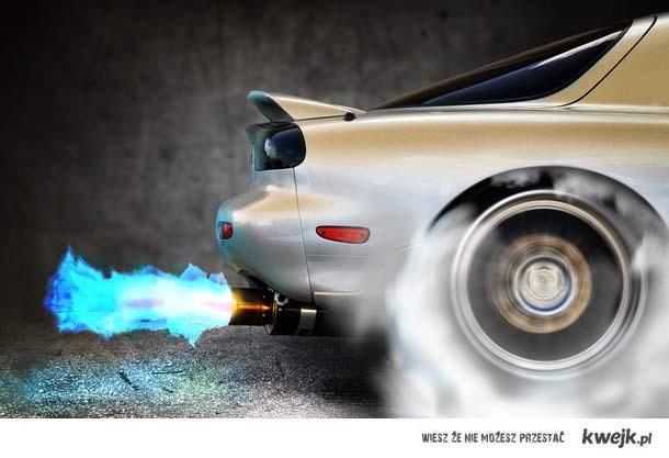 Mazda flames and burnout