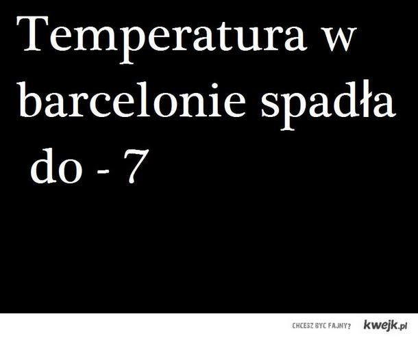 Temperatura spadła do -7