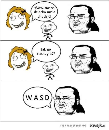 W A S D