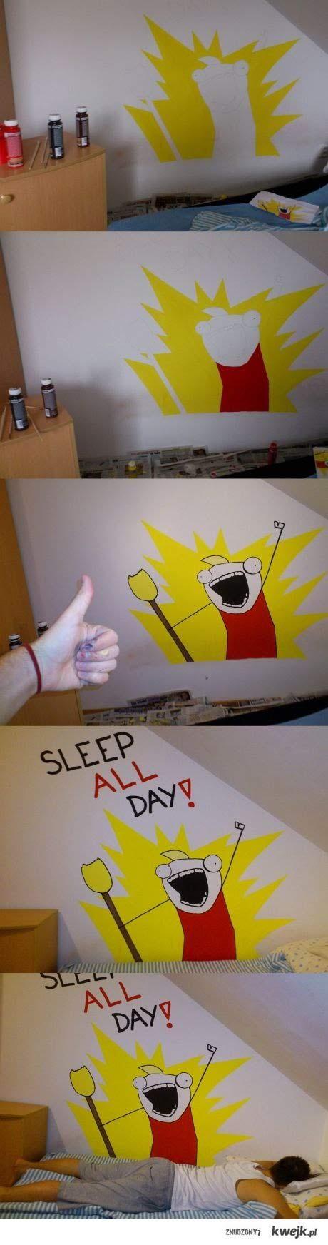sleep all day