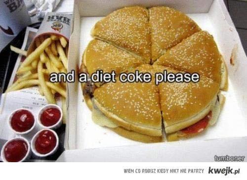.. i dietetyczną colę