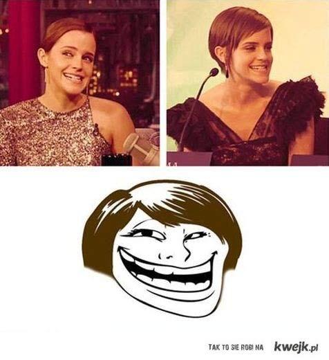 Emma Watson = trollface!!!!
