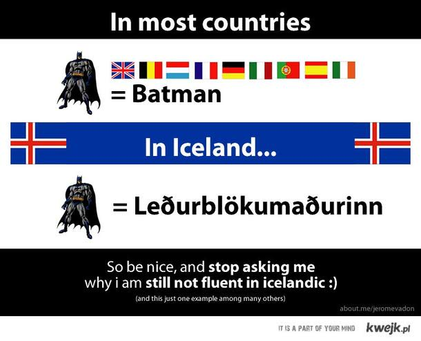 batman in icelandic