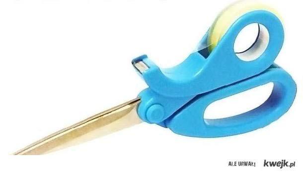 nożyczki z taśmą