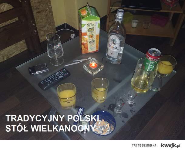 tradycyjny Polski stół świąteczny