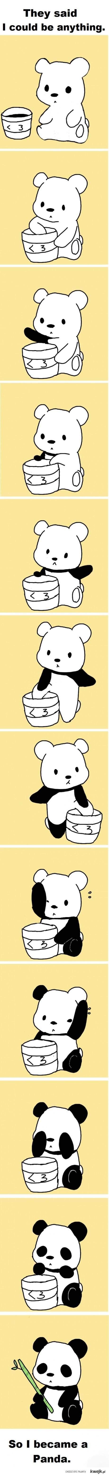 became a panda!