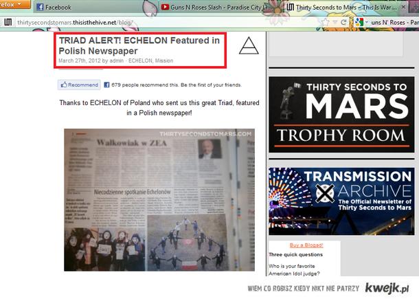 Poland ECHELON in newspapper