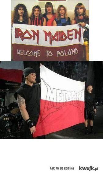 Iron Maiden , Metallica POLAND