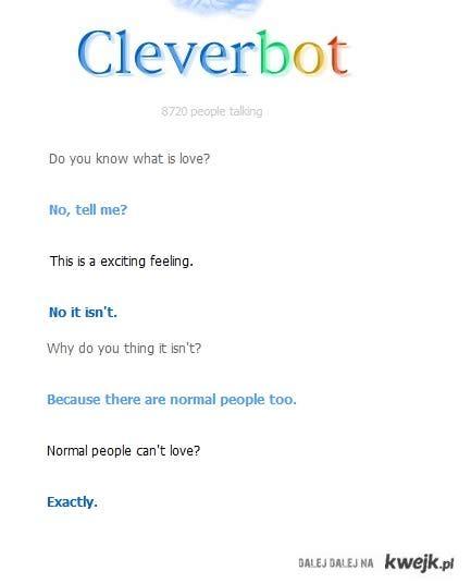 cleverbot wie lepiej.