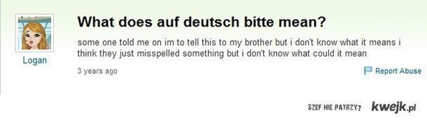 Deutsch bitte