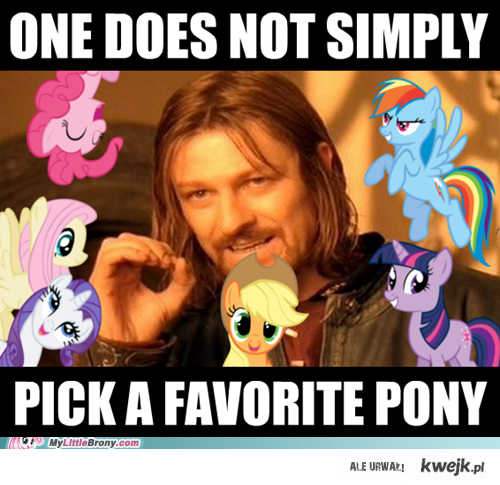 Pick a Favorite Pony