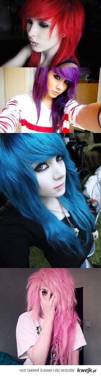 kolorowe włosy ♥