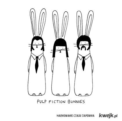 pulp fiction bunnies.