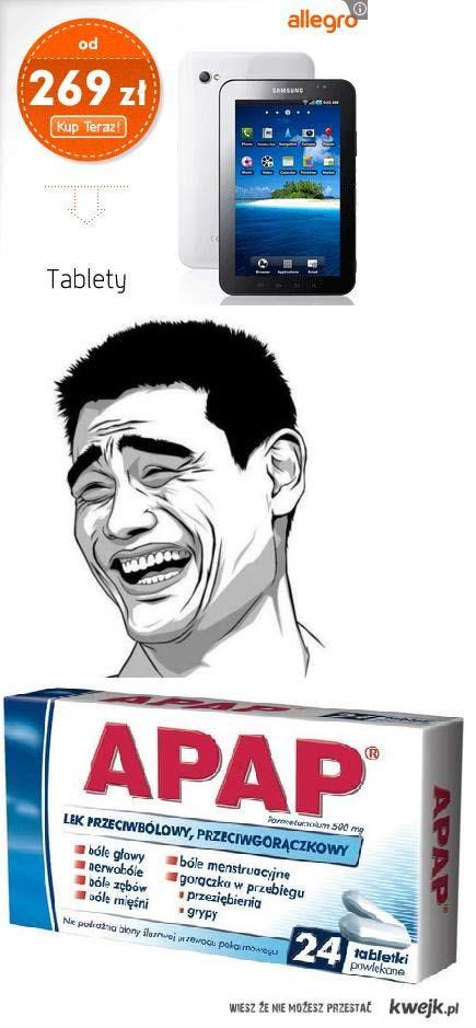 """jedyny """"tablet"""" na jakiego mnie stać xD"""