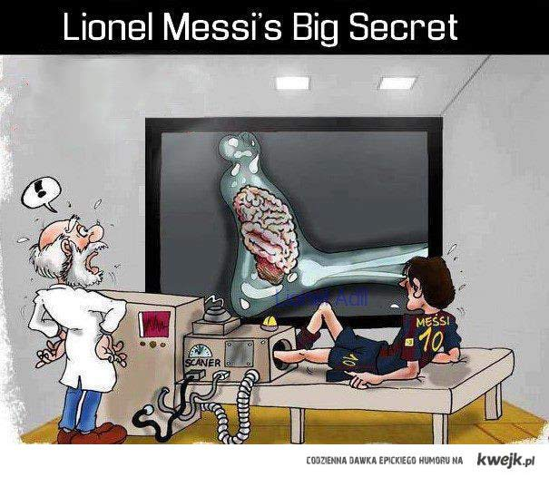 Stwierdzam gol, bo Messi