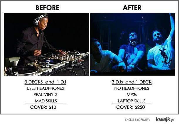 DJ kiedyś i dziś