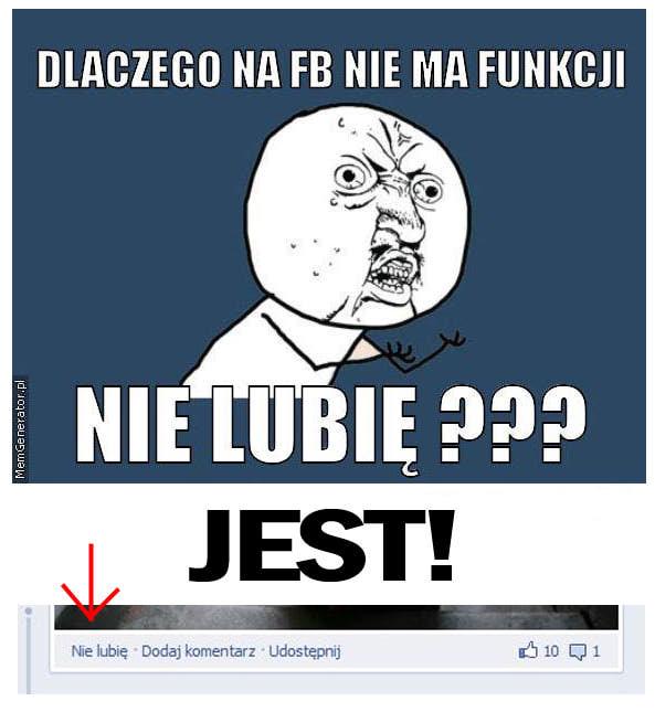 Nie lubię !!!