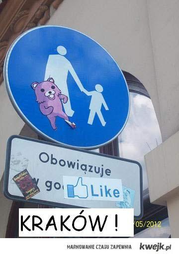 Kraków - Znak przy Hard Rock Cafe