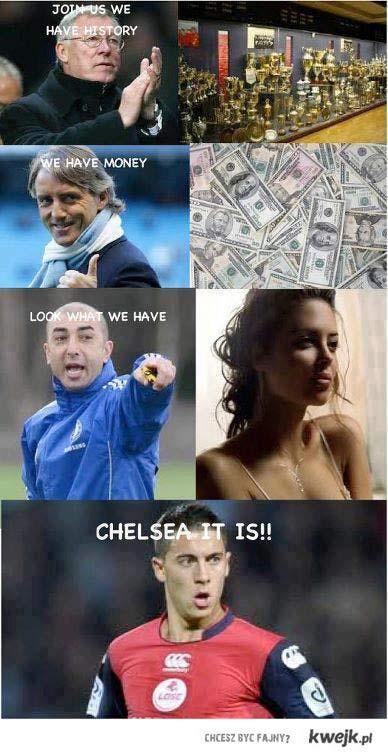 Dlaczego Hazard wybrał Chelsea