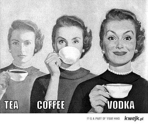 herbata kawa wodka
