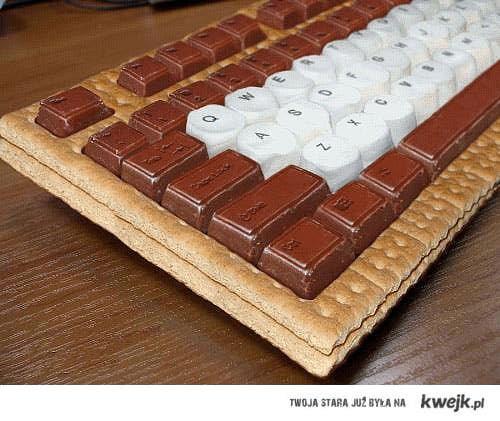 klawiatura z czekolady