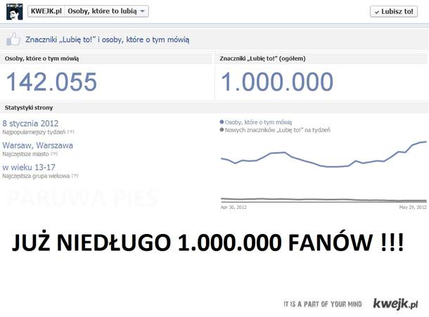 1 mln fanów !!!