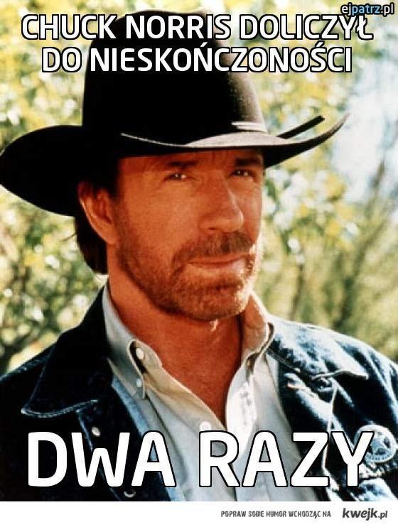 Chuck Norris doliczył do nieskończoności