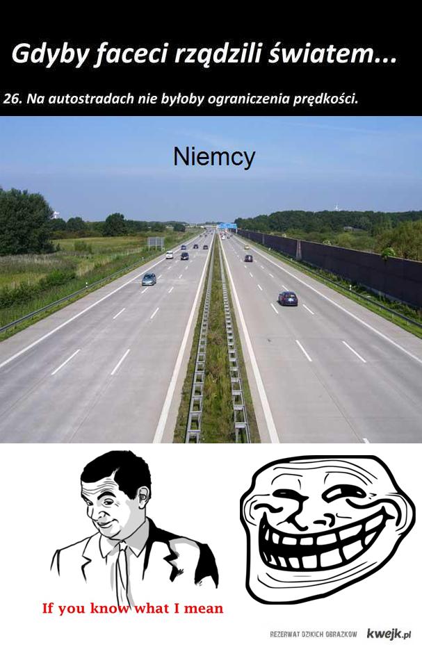 Brak ograniczeń prędkości
