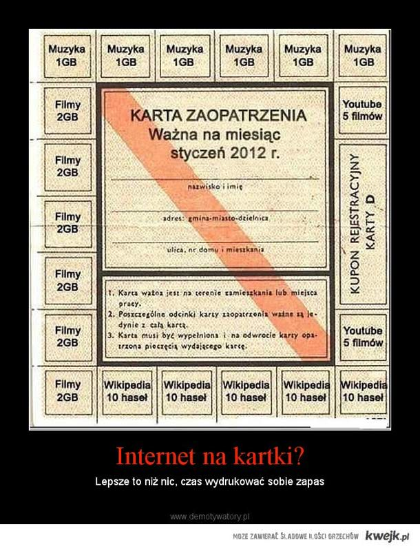 internet na kartki
