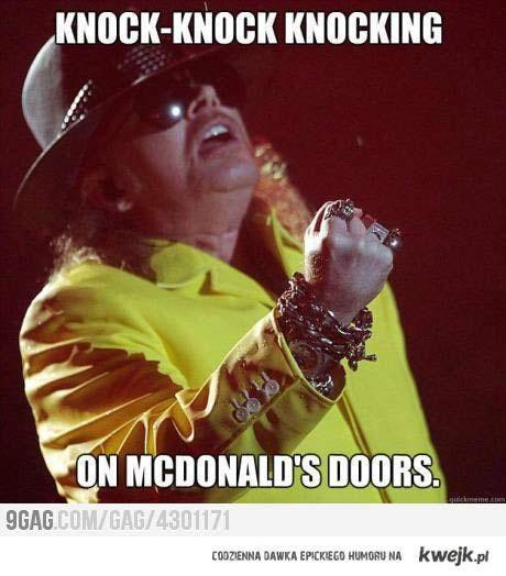 knock knock knocking on McDonalds Doors