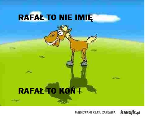 Rafał to nie imię, Rafał to Koń !