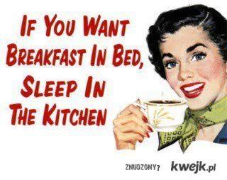 śniadanie do łóżka.