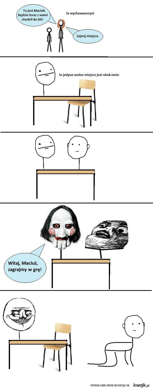 maciek nowy w klasie
