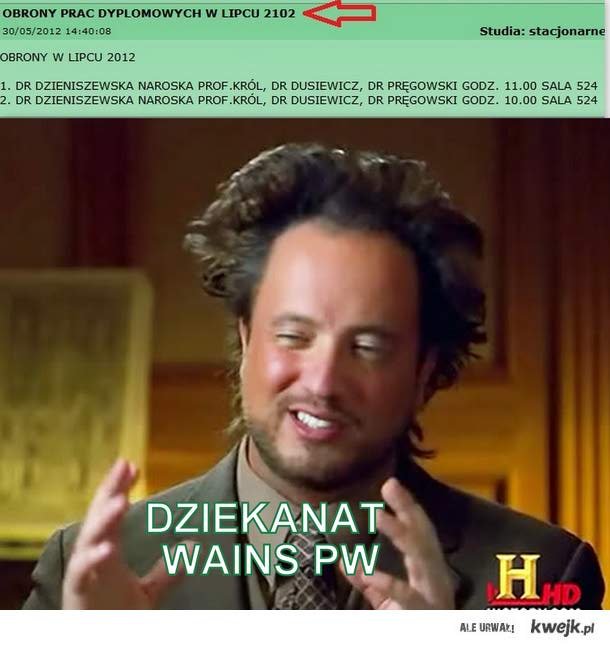 WAINS PW