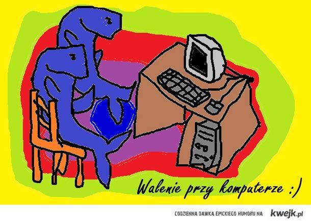 Walenie przy komputerze