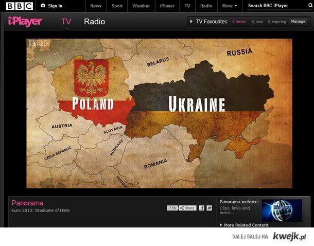 Jak Anglicy widzą Europę - Polska graniczy z Austrią a niedaleko jest Jugosławia:)