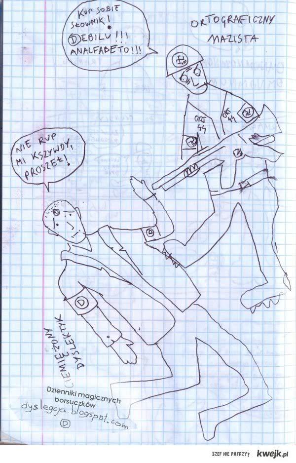 Niszczydź ortograficzny nazism (D)