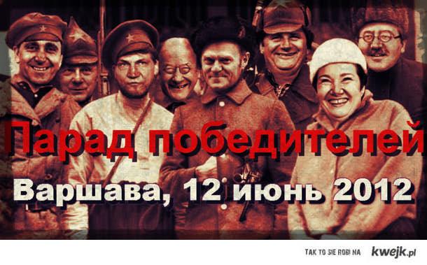 Przygotowania do Marszu Rosjan w Warszawie