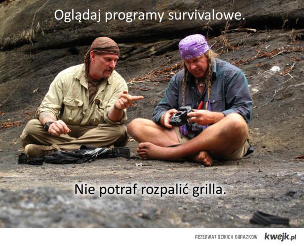 Survivalowi cynerzy a grillowa rzeczywistość
