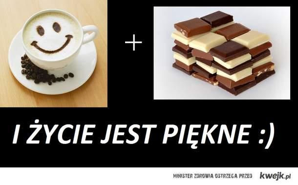 kawa+czekolada...